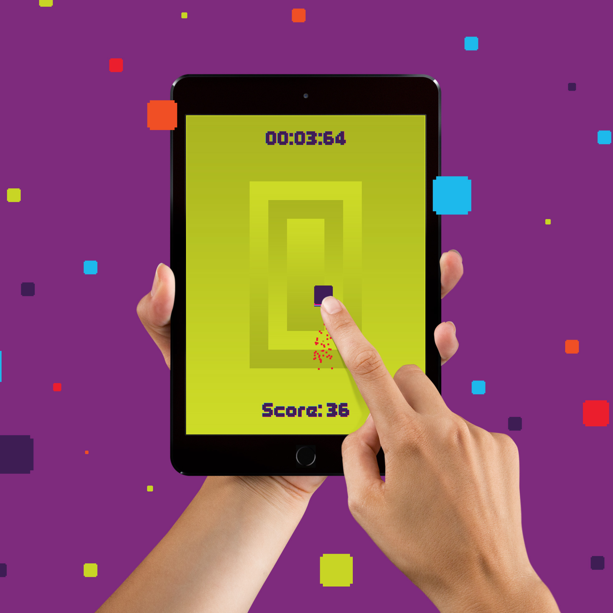 Addictive game, Pixel Dash for the iPad