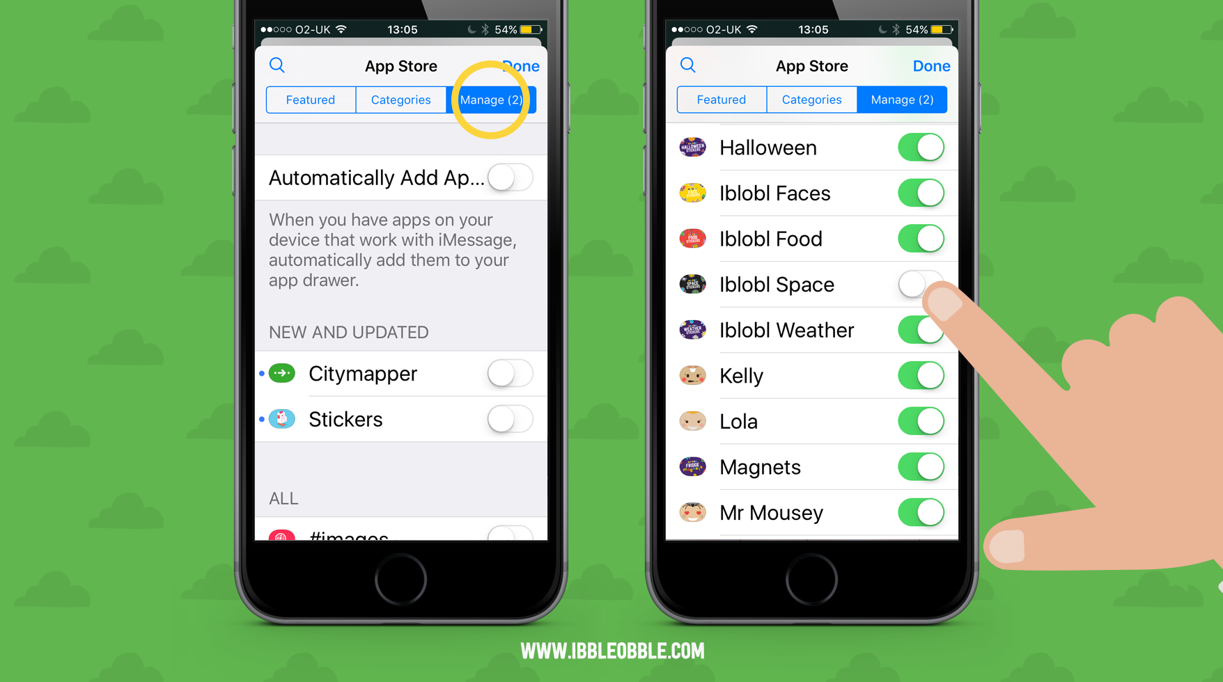 Manage iMessage stickers