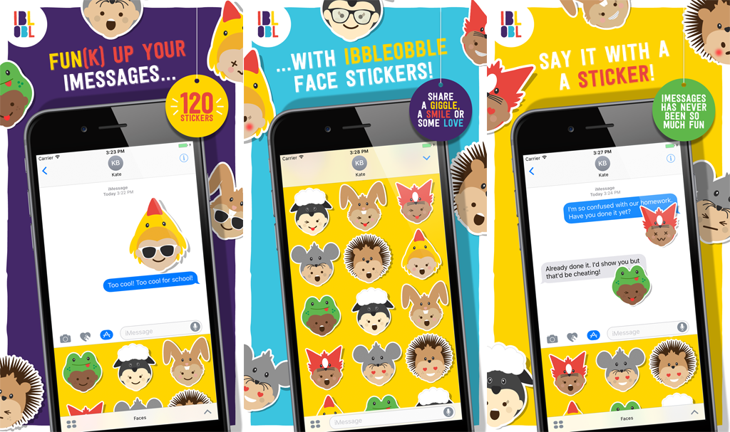 Faces Stickers by Ibbleobble