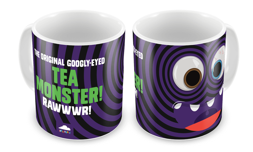 Ibbleobble Googly-Eyed Tea Monster Mug Black