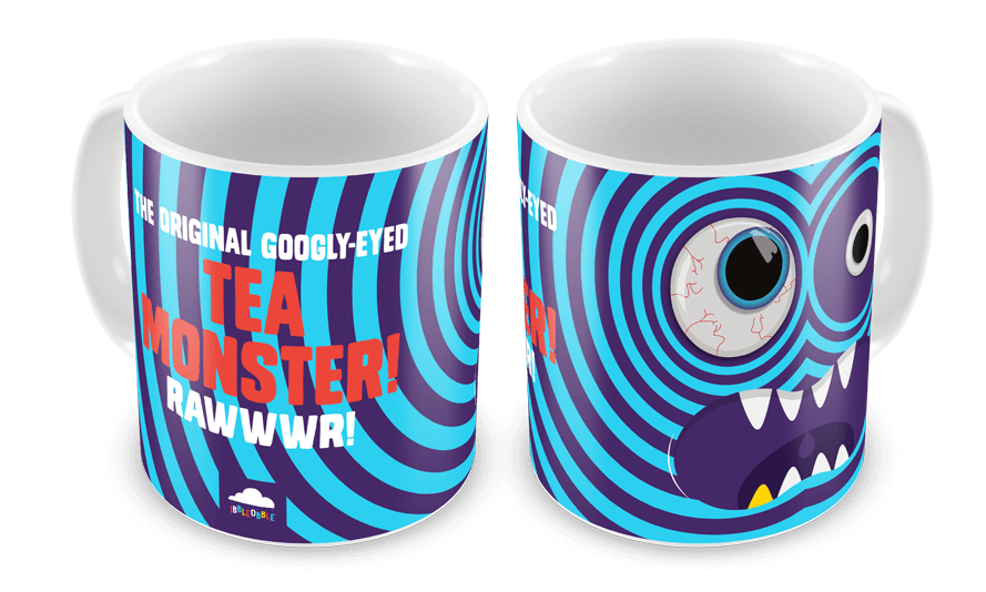 Ibbleobble Googly- Eyed Tea Monster Mug Blue
