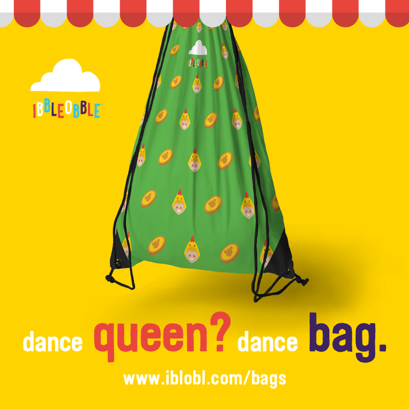 Ibbleobble shop - Lola the chicken dance bag