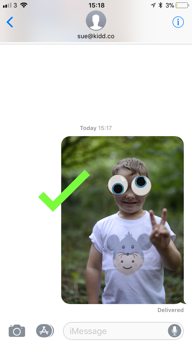 How to use iMessage Stickers correctly - Step 4