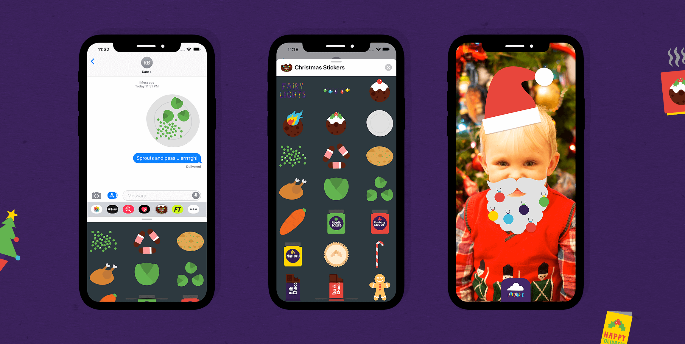 Ibbleobble Christmas Stickers for iMessage