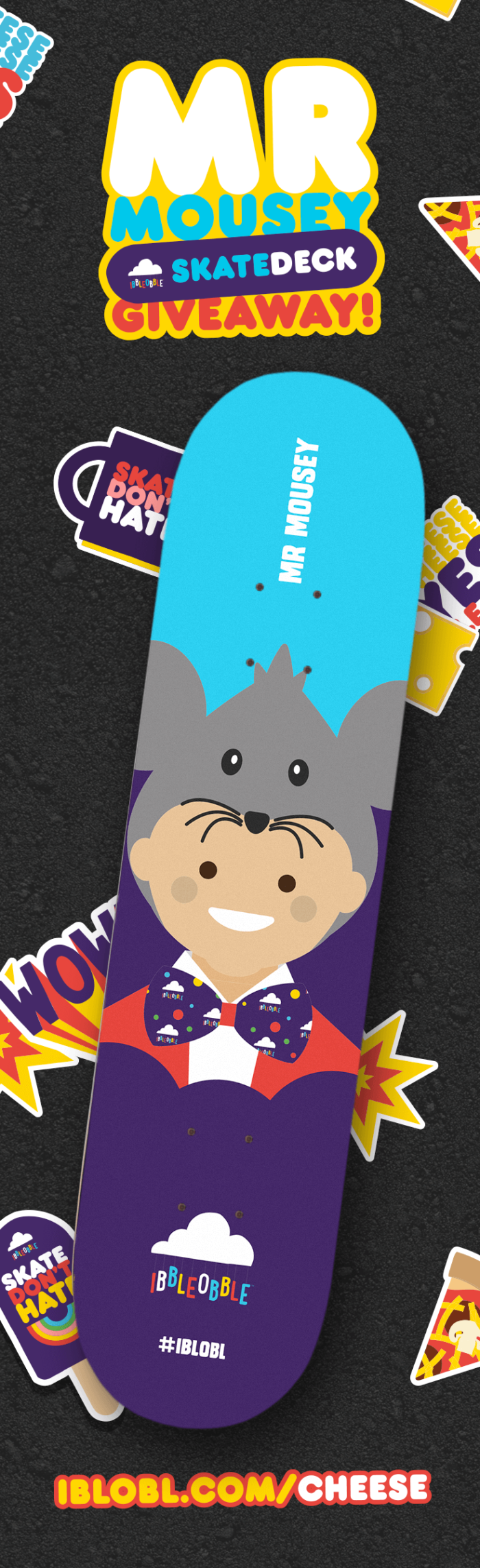 Mr Mousey Skate Deck Giveaway