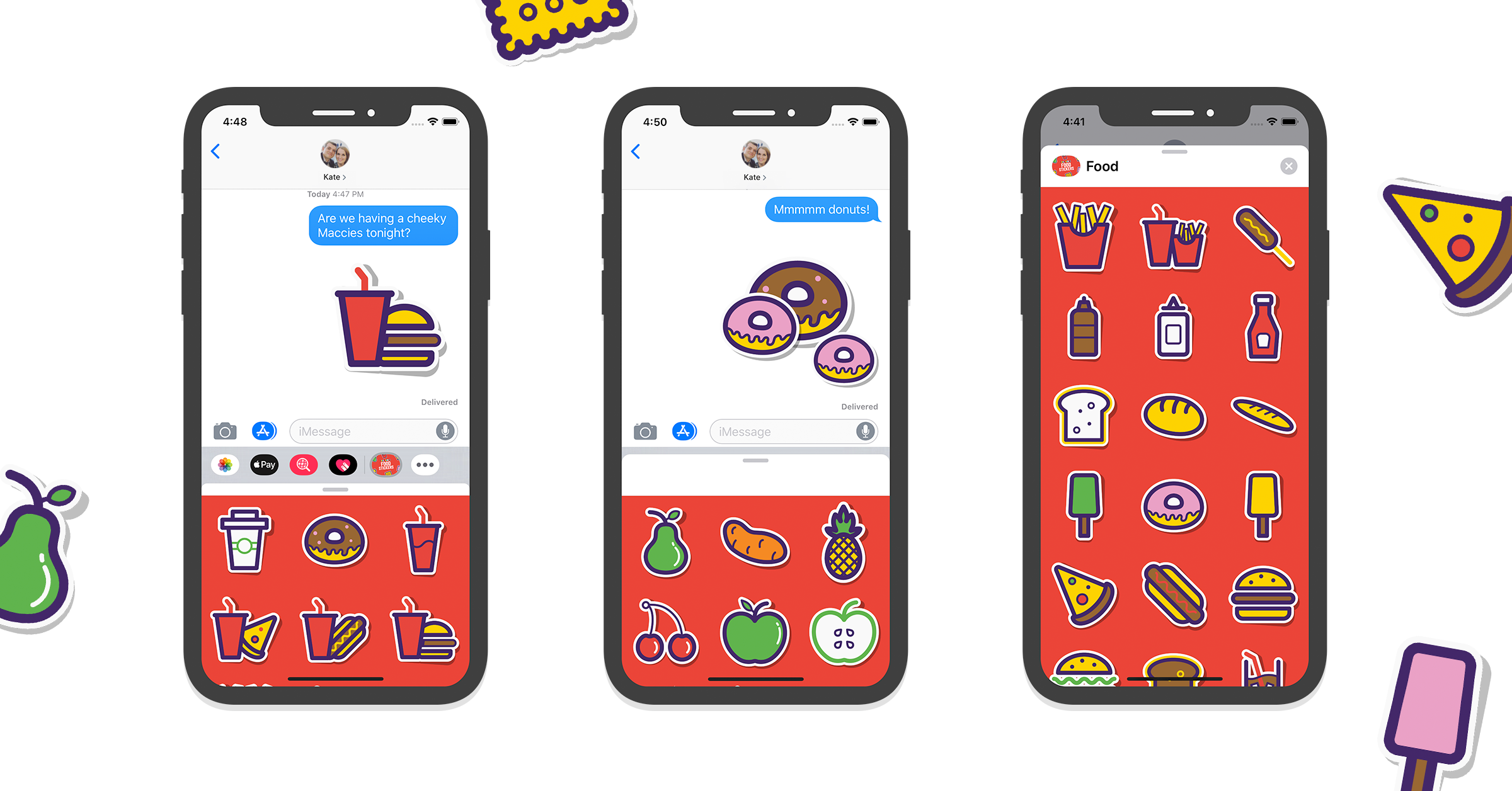 Yummy iMessage Food Stickers