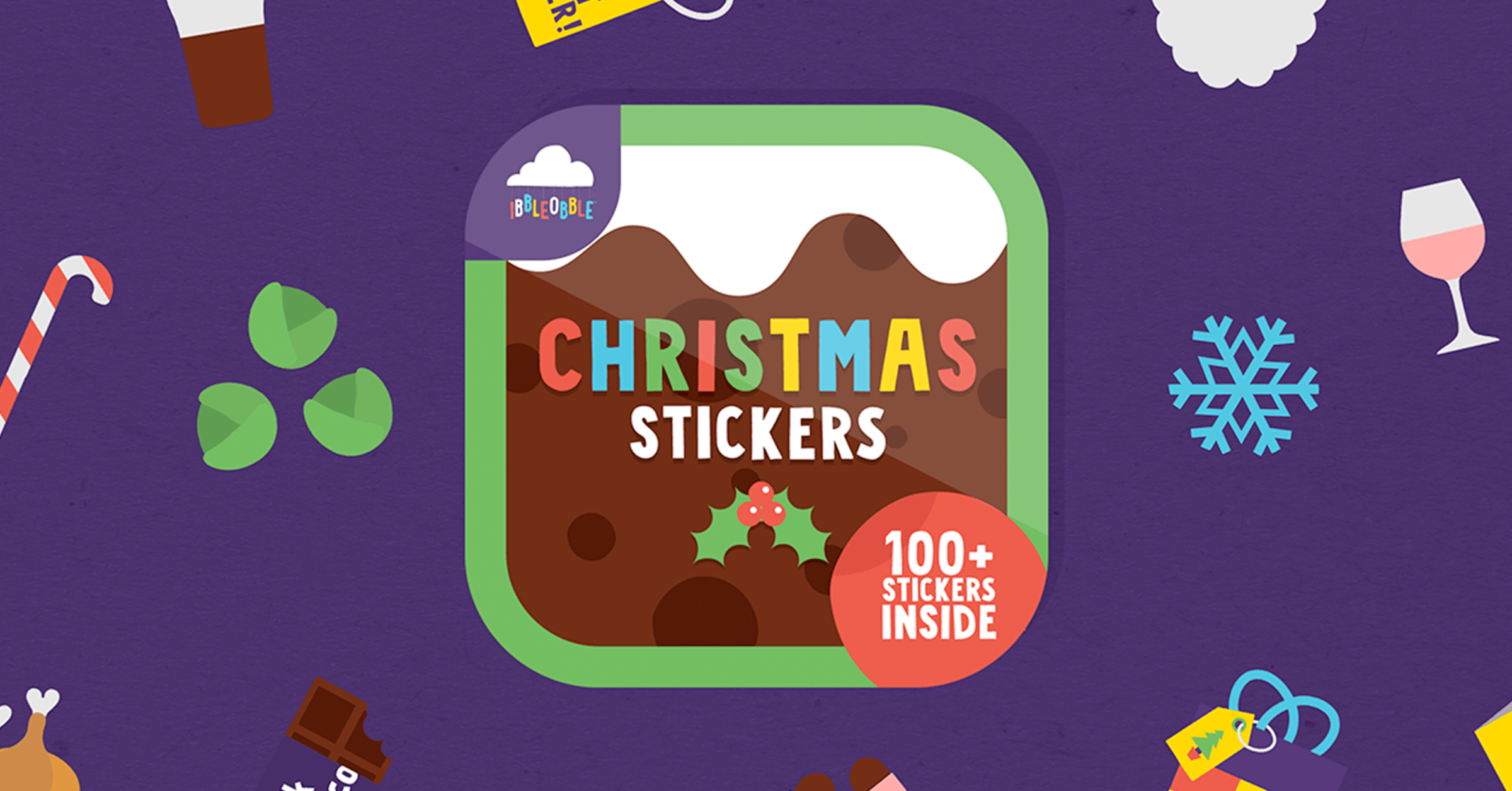 Hip Hip Hooray for Ibbleobble Christmas Stickers!