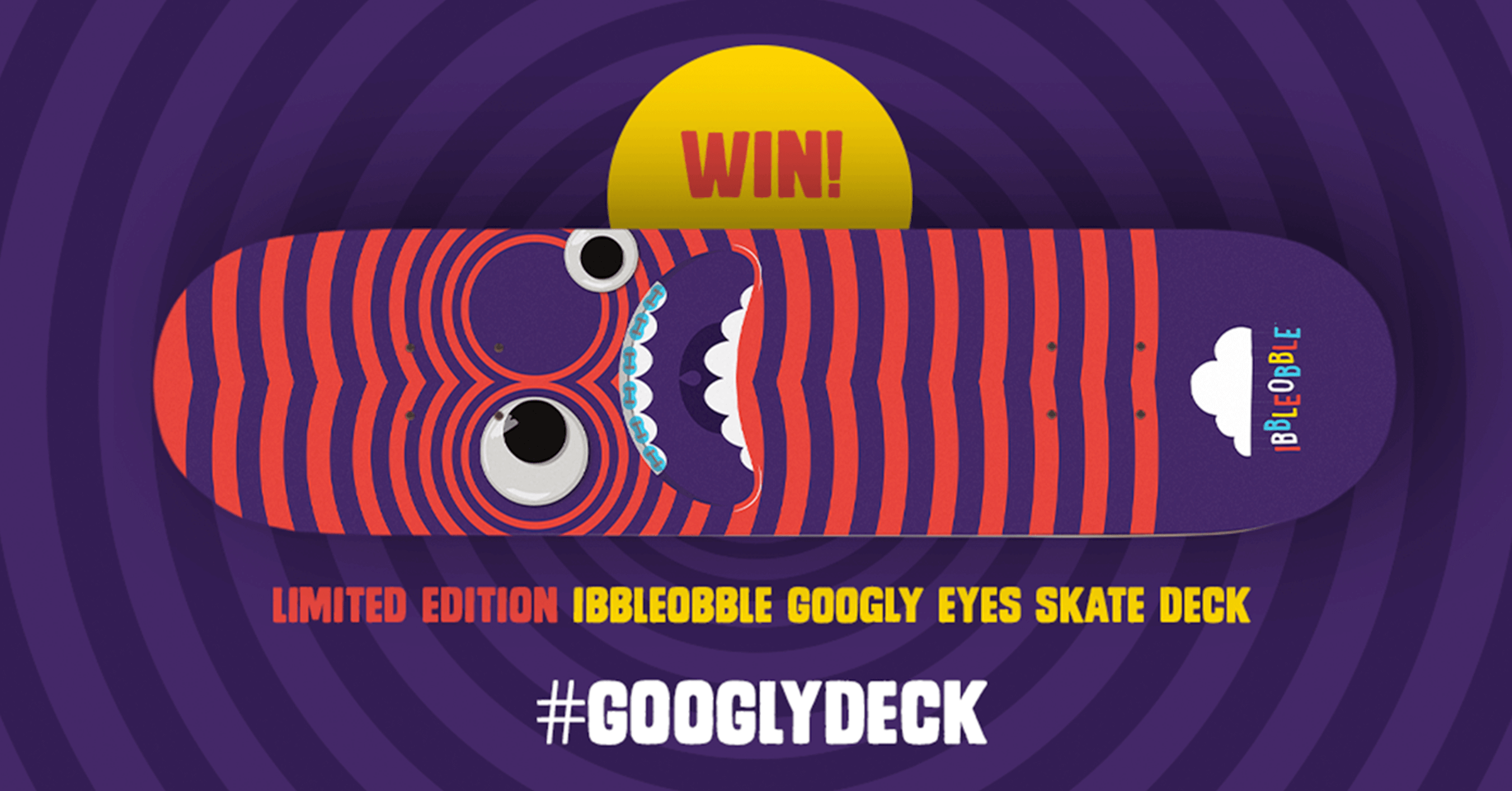 Googly Eyes Skate Deck Giveaway