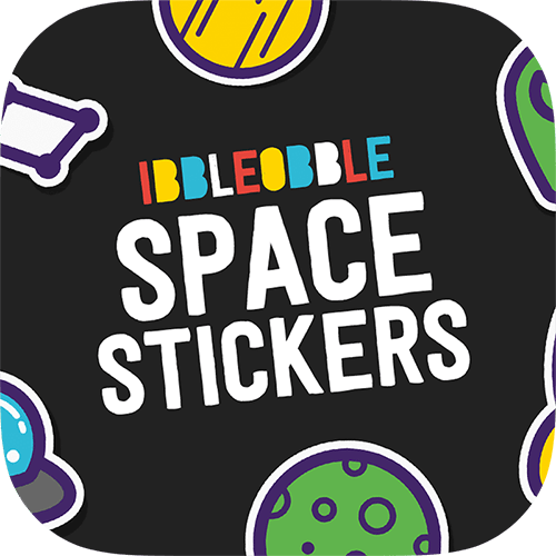 Ibbleobble® Space Stickers for iMessage