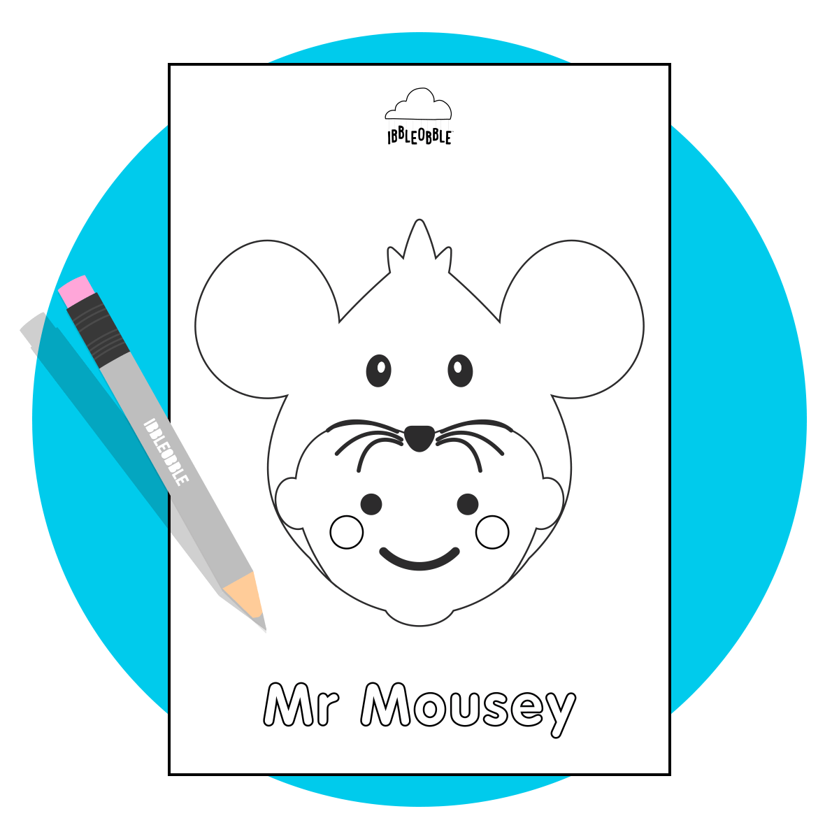 Colour Me In Resource - Mr Mousey
