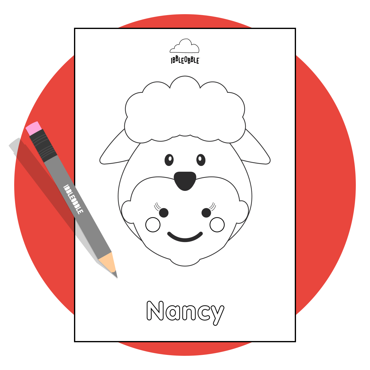 Colour Me In Resource - Nancy