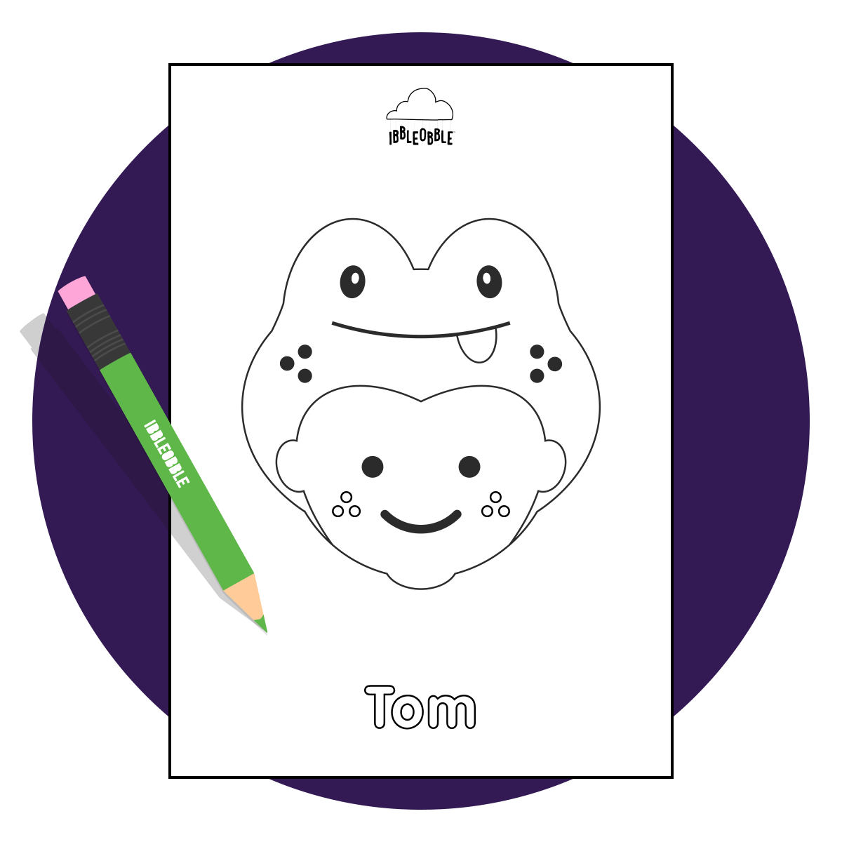 Colour Me In Resource - Tom