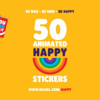 Be Happy iMessage Stickers